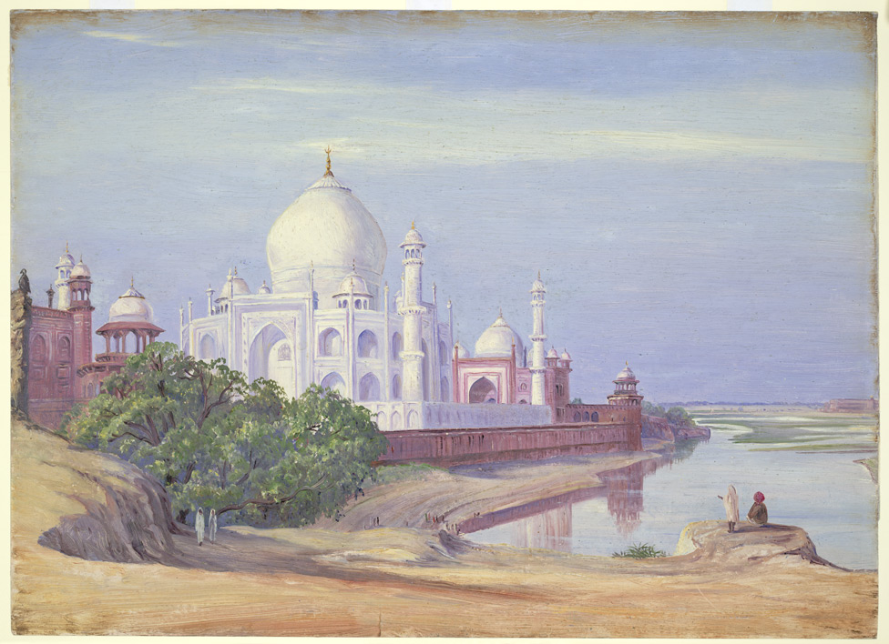 'The Taj, Agra, and distant Fort, India.  April 1878'